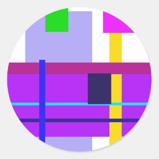 Minimal Violet Round Sticker