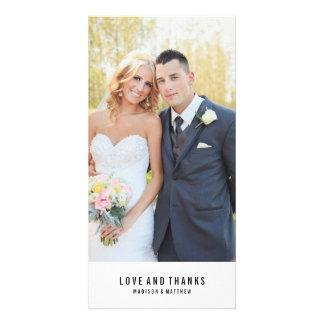 Minimal   Wedding Thank You Photo Card