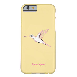 Minimal Yellow hummingbird feminine chic marries Barely There iPhone 6 Case
