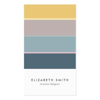 Minimal Yellow mint nordic elegant modern design Pack Of Standard Business Cards