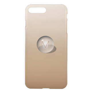 Minimalism 3D Monogram Monochrom Beige Vip iPhone 8 Plus/7 Plus Case
