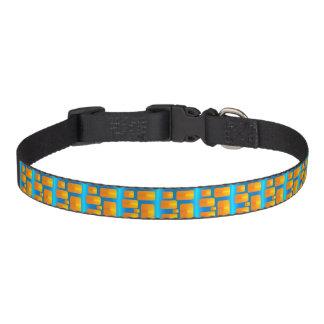 Minimalism Abstract Aqua and Bright Orange Pet Collar