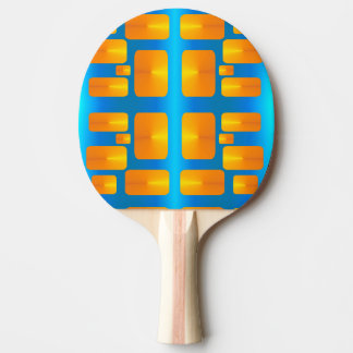 Minimalism Abstract Aqua and Bright Orange Ping Pong Paddle