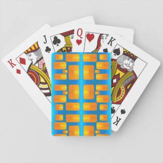 Minimalism Abstract Aqua and Bright Orange Playing Cards