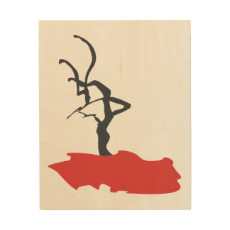 Minimalism Abstract Black Tree Wood Canvases