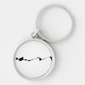 Minimalism - Black and White Key Ring