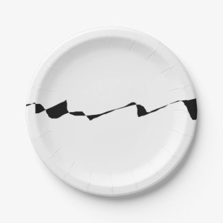 Minimalism - Black and White Paper Plate