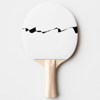 Minimalism - Black and White Ping Pong Paddle