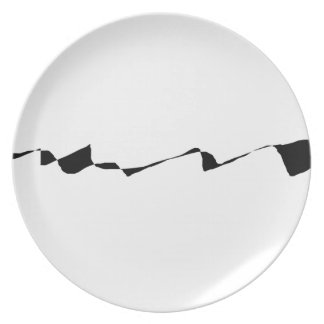 Minimalism - Black and White Plate