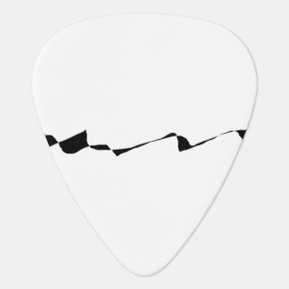 Minimalism - Black and White Plectrum