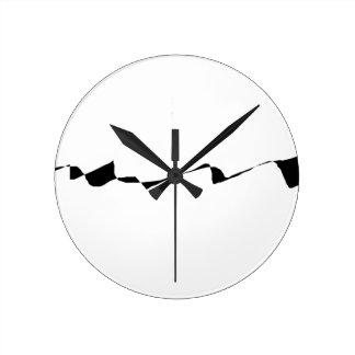 Minimalism - Black and White Round Clock