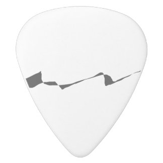 Minimalism - Black and White White Delrin Guitar Pick