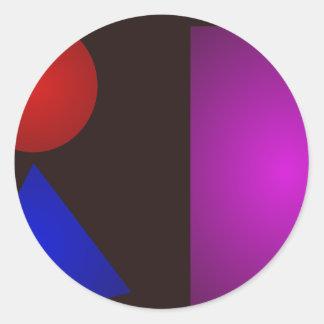 Minimalism Bold Darkness Round Sticker