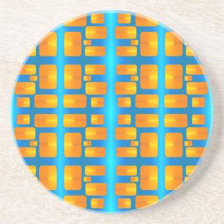 Minimalism bright colors asymmetric shapes coaster
