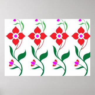MINIMALISM - Creeper Plants with Flowers Print