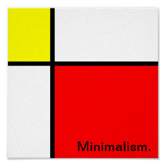 minimalism design poster