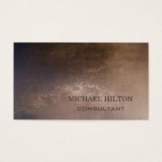 Minimalism elegant plain brushed copper business card
