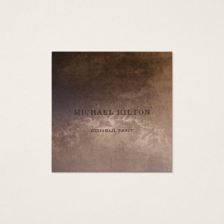Minimalism elegant plain brushed copper square business card
