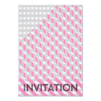 Minimalism Geometric Party Stripes Gray Pink Card