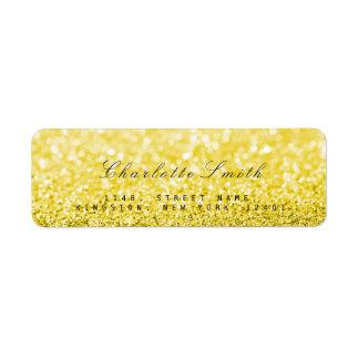 Minimalism Glitter Yellow Return Address Labels
