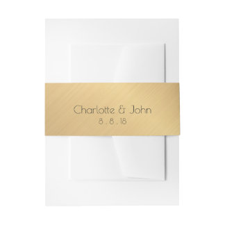 Minimalism Golden Foil Return Address Labels Invitation Belly Band