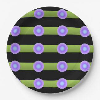Minimalism Green and Lilac Color Paper Plate