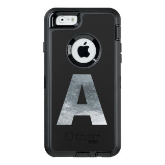 "Minimalism Initials Monogram ""A"" Grungy Gray OtterBox iPhone 6/6s Case"