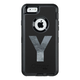 """Minimalism Initials Monogram """"Y"""" Grungy Silver OtterBox iPhone 6/6s Case"""