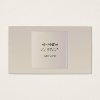 Minimalism Ivory Geometric Ombre Wedding Planner Business Card