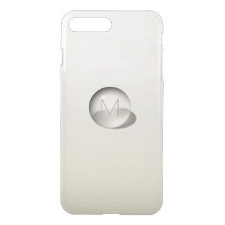 Minimalism Monogram Monochromatic Ivory Ombre Ball iPhone 7 Plus Case