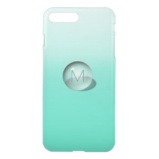 Minimalism Monogram Monochromatic Mint Ombre Ball iPhone 8 Plus/7 Plus Case