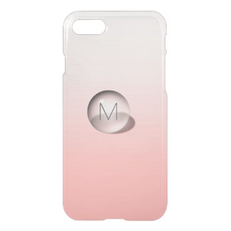 Minimalism Monogram Pastel Pink Ombre Ball iPhone 7 Case