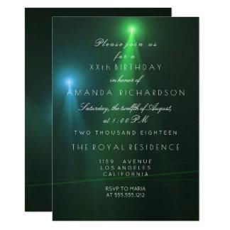 Minimalism Ombre Teal Deep Tropical Green Concert Card