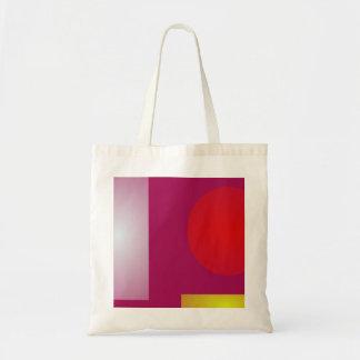 Minimalism Red Purple Tote Bags