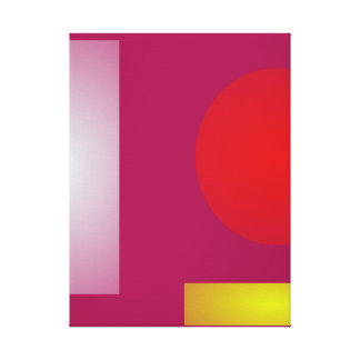 Minimalism Red Purple Gallery Wrap Canvas