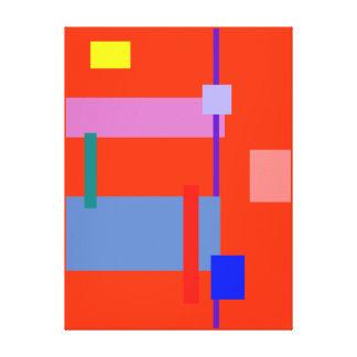 Minimalism Red Strip Canvas Prints