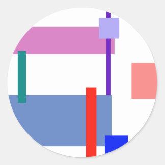 Minimalism Red Strip Customizable Stickers