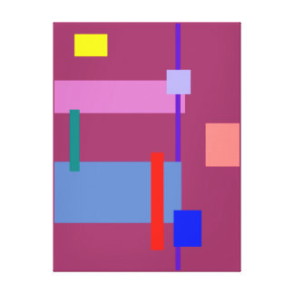 Minimalism Red Strip Gallery Wrapped Canvas