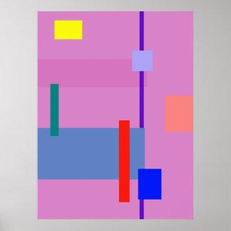 Minimalism Red Strip Poster