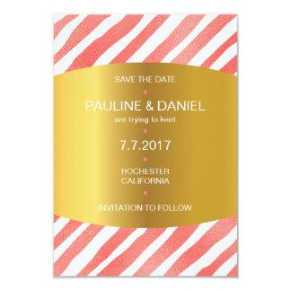 Minimalism Save The Date Candy Golden Vip 9 Cm X 13 Cm Invitation Card