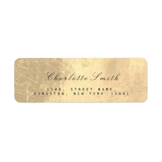 Minimalism Sepia Gold Foil Return Address Labels