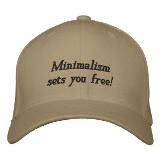 Minimalism sets you free embroidered baseball cap