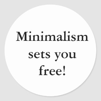 Minimalism sets you free! sticker