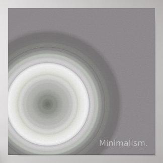 minimalism sphere on poster