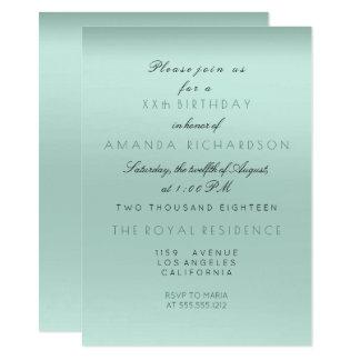 Minimalism Tiffany Aqua Mint Bride Birthday Formal Card