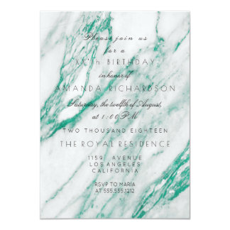 Minimalism  Tropical Green White Marble  Birthday Card