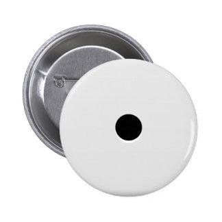 Minimalist Abstract Single Dice Pip 6 Cm Round Badge