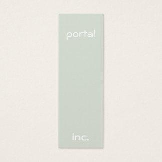 Minimalist and Modern Green Mini Business Card