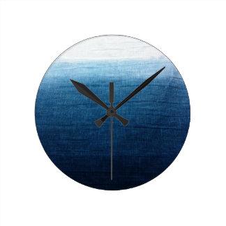 Minimalist Approach 2 Indigo Round Clock