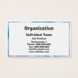 Minimalist Aquarel Business Card